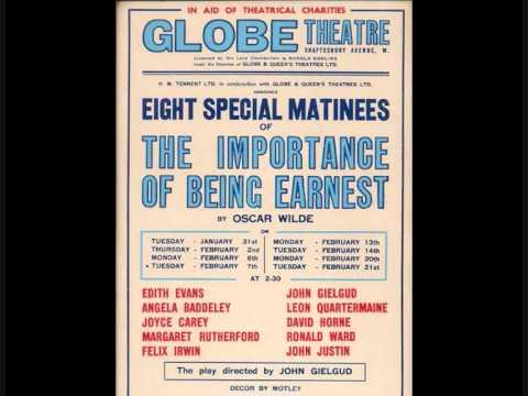 The Importance of Being Earnest (Excerpt) - John Gielgud & Edith Evans - 1939