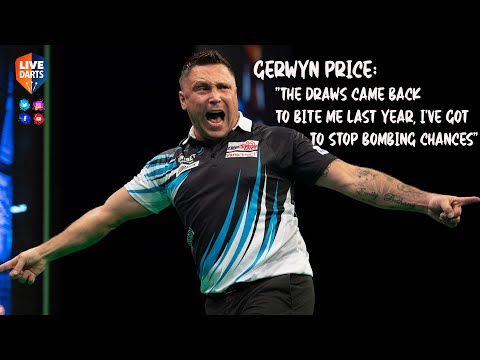 """Gerwyn Price: """"The draws came back to bite me last year, I've got to stop bombing chances"""""""