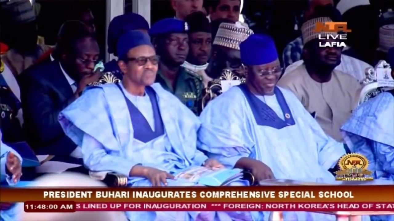 President Muhammadu Buhari in Nasarawa State: Inaugurates Comprehensive Special School