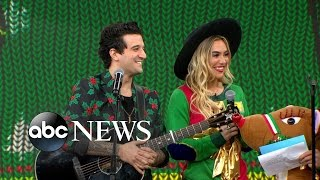 Newlyweds Mark Ballas and B.C. Jean Appear Live on 'GMA'