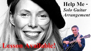 Help Me, Joni Mitchell, fingerstyle guitar, lesson available