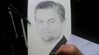 Desenhando Leonardo DiCaprio-drawing Leonardo DiCaprio