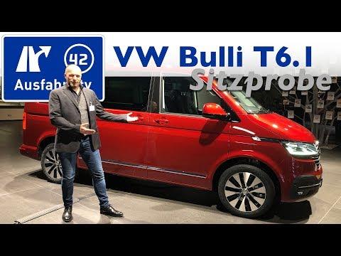 Weltpremiere Volkswagen T6.1 Multivan / Transporter Sitzprobe, kein Test, Debut - Ausfahrt.tv