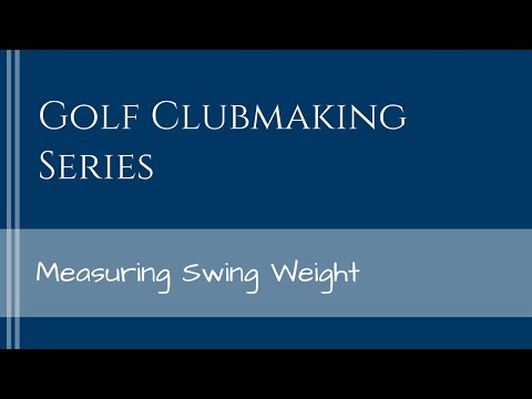 How to Measure Golf Swing Weight
