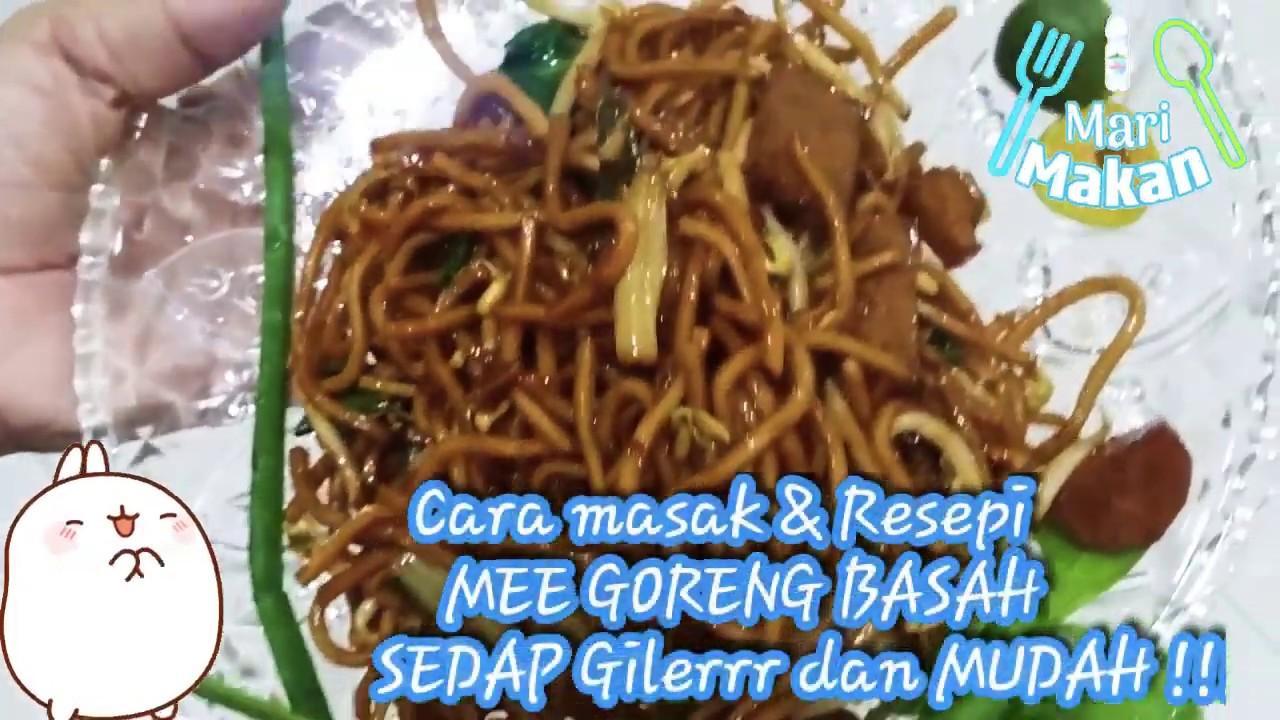 resepi mee goreng basah sedap  mudah recipes fried  wet noodle delicious super easy cook Resepi Mee Goreng Ratna Enak dan Mudah
