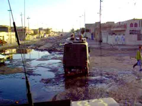 Snatch patrol in Basra. Iraq,