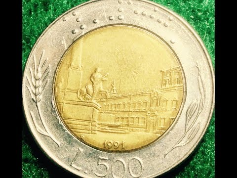 500 Lire Coin Of Italy Dated 1991