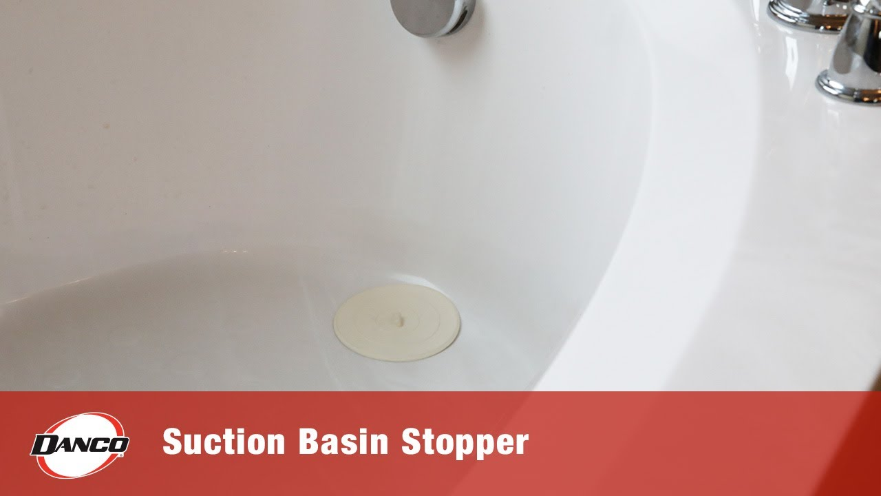 5 in flat suction sink stopper in white