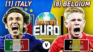 Italy All Time XI vs Belgium All Time XI FIFA 20 All Time EURO