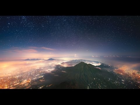 Sunrise at Agung Volcano (Bali, Indonesia) by drone
