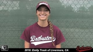 2018 emily trask speedy slapper and outfield softball skills video batbusters clark