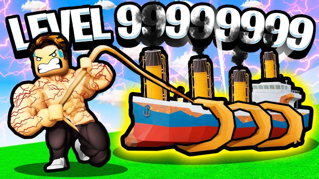 PULLING THE HEAVIEST ITEM POSSIBLE? - Roblox Strongman Simulator