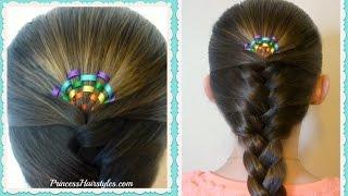 Rainbow Sunrise Braid Hairstyle