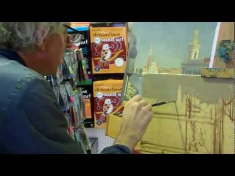 Tonal Oil painting of Venice by David Henderson, at Art Shed Brisbane
