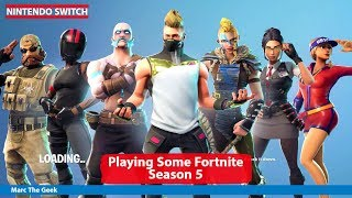 Playing Fortnite Season 5 on Nintendo Switch