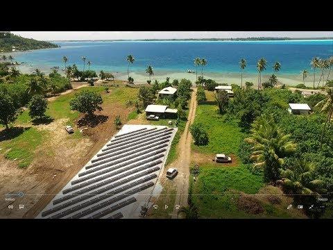 First solar desalination unit in the Pacific : OSMOSUN® in Bora Bora