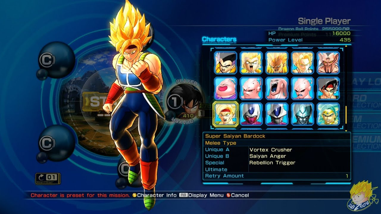 Dragon Ball Z Battle Of Z All Character Models In