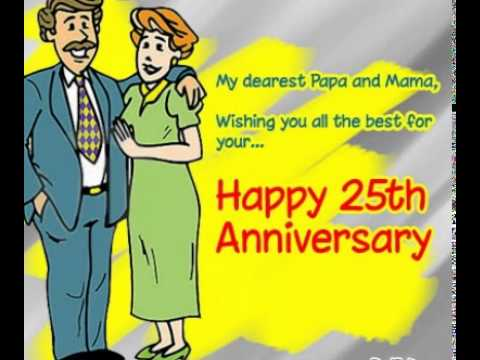 25th Wedding Anniversary Ecards Images