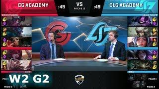 Clutch Gaming Academy vs CLG Academy   Week 2 NA Academy League Summer 2018   CGA vs CLGA