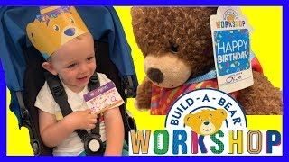 FUN Trip to BUILD-A-BEAR for Oliver's 2nd Birthday - His FIRST EVER Birthday Bear! (Charlie Helped!)