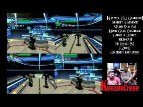 PSO 4 Player Split Screen on Gamecube