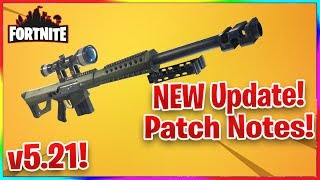 FORTNITE v5.21 PATCH NOTES, Sniper Shootout is back, Heavy Sniper and *NEW* mode!