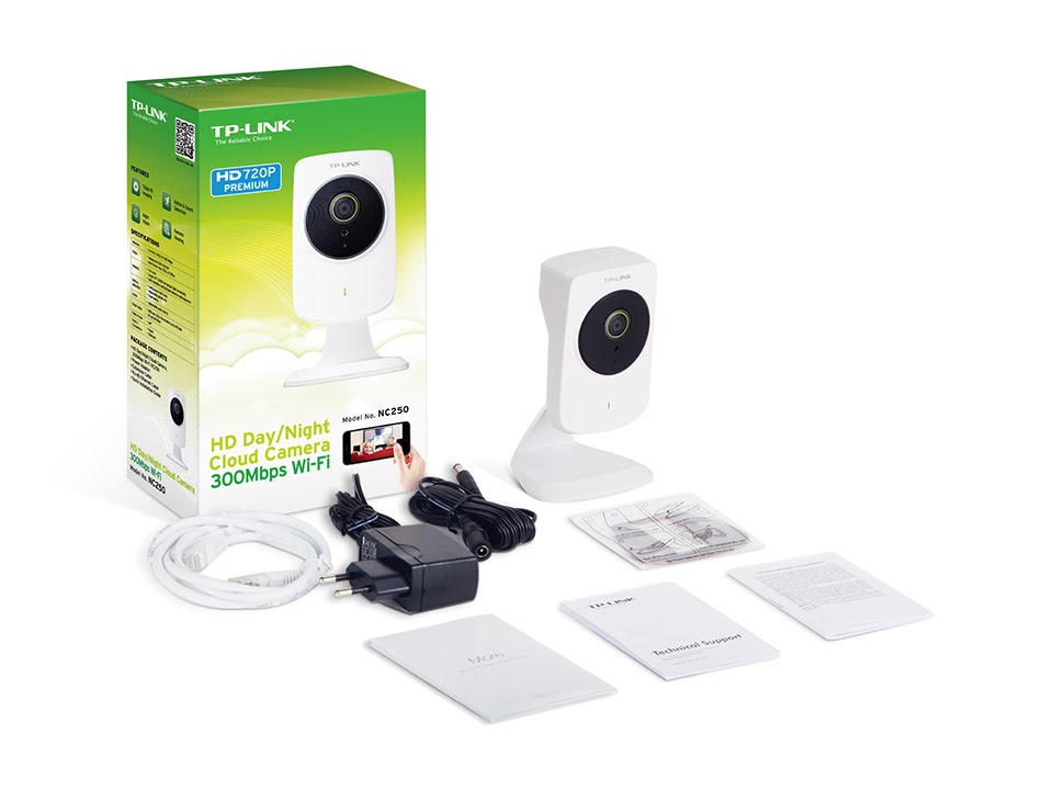 TP-LINK HD Day/Night Cloud Camera - TL-NC250 - White