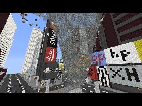 Minecraft: TORNADO MOD VS. NEW YORK CITY MAP! (New York City Tornado Outbreak)
