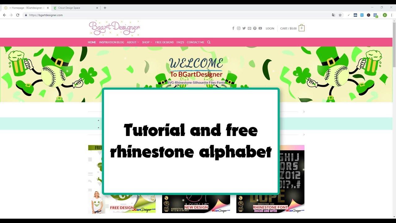 Old English alphabet rhinestone