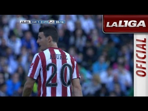 Gol anulado a Óscar de Marcos en el Real Zaragoza (1-0) Athletic Club de Bilbao - HD