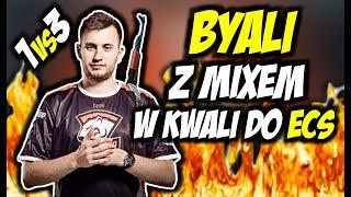 BYALI Z MIXEM VS ENCE, 3DMAX W KWALI DO ECS !!! BYALI 1vs3, 3 KILLE 1 GRANAT !!! - CSGO BEST MOMENTS