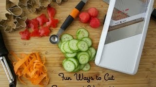 Fun Ways to Cut Fruits and Vegetables - Cooking Quick Tips - Weelicious