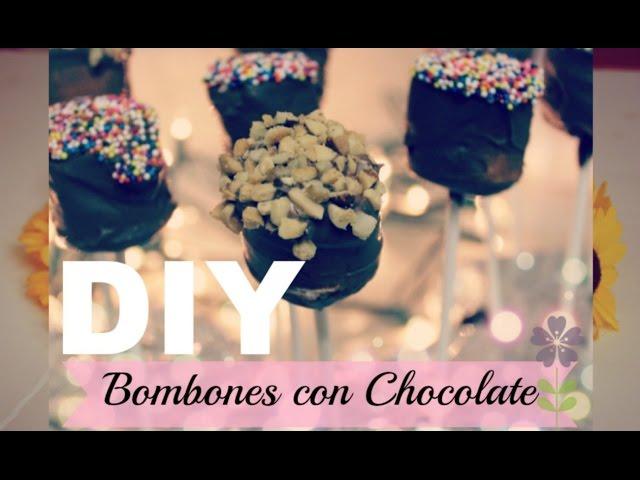 Paletas De Bombon Con Chocolate/Super Faciles