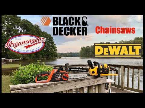 Dewalt Vs Black & Decker Battery Powered Chainsaws: Which Is The Best Battery Chainsaw?