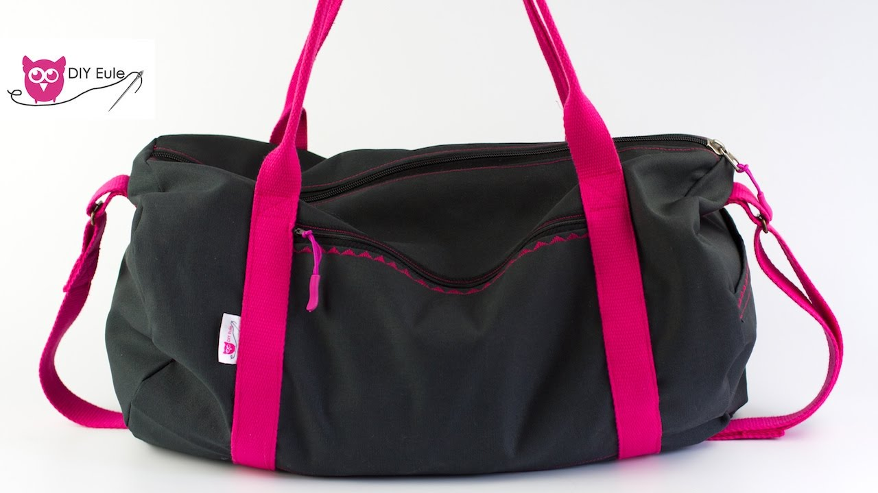 dufflebag sporttasche n hen diy eule youtube. Black Bedroom Furniture Sets. Home Design Ideas