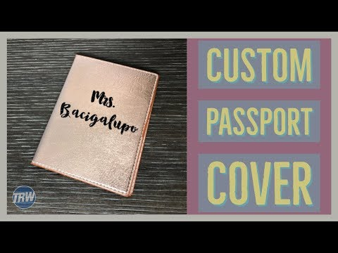 Customizing A Faux Leather Passport Cover From Target Dollar Spot With Siser Glitter And Your CAMEO