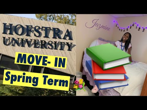 HOFSTRA UNIVERSITY SPRING SEMESTER MOVE-IN *VLOG*