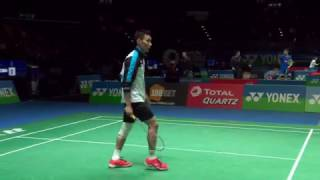 yonex all england open 2017   badminton r16 m2 ms   lee chong wei vs wang tzu wei