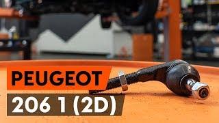 Reemplazar Rótula barra de dirección PEUGEOT 206: manual de taller