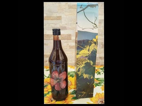 Winter is coming ~ bottles flower and animal - Bottiglie e tazze dipinte (collezione invernale) 🎨🐋