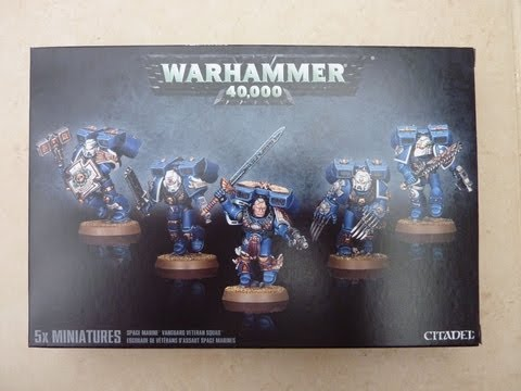 Space Marine Vanguard Veteran Squad unboxing and review (WH40K)