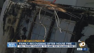 Cellphone charger likely to blame for Rolando house fire