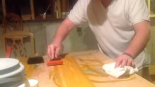 Paper bag floor wood plank style how to mix paint and use w