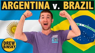 ARGENTINA vs. BRAZIL (Similarities & Differences)