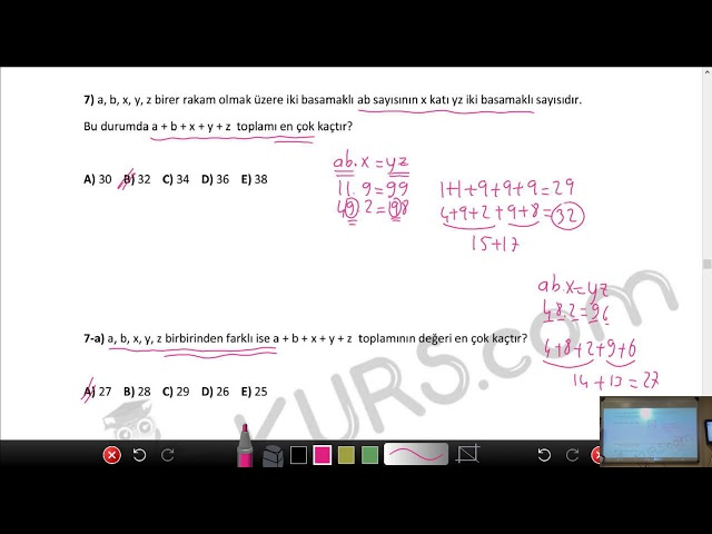 DGS Sayısal - Temel Kavramlar - 5 /nettekurs.com Online DGS Dershanesi