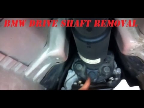 Bmw E46 Drive Shaft Removal How To Take Off The Drive