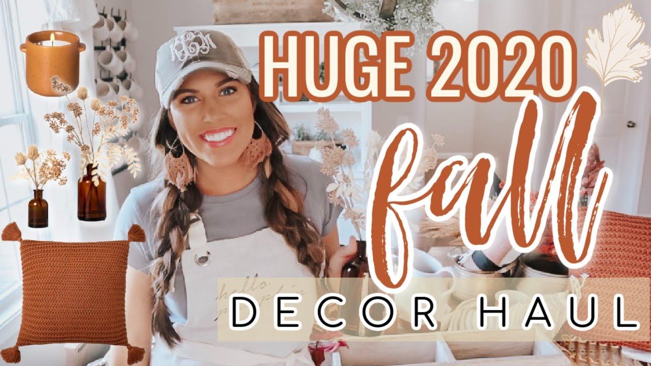 HUGE FALL DECOR HAUL 2020 | COZY FALL FARMHOUSE INSPO | FALL DECORATING IDEAS
