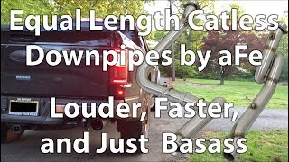 aFe Equal Length Catless Downpipes Sound Testing and Review