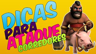CLASH OF CLANS DICAS COMO FARMAR COM ATAQUES CORREDORES CV6 (Português PT-BR Clash of Bemo)