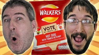 Walkers Hot Dog With Tomato Ketchup Crisps Review #dousaflavour